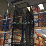 Handloaded Waist Height Mezzanine Goods Lift Archive Storage