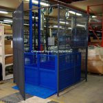Interlocked Enclosure Gates Mezzanine Goods Lift