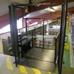 Interlocking Gates Platform Mezzanine Goods Lift Wisbech