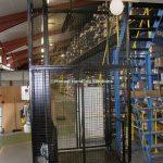 Mesh Enclosure Mezzanine Goods Lift Wisbech Cambs