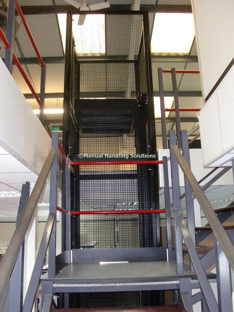 Waist Height Hand Loaded Mezzanine Goods Lift