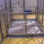 Mezzanine Goods Lift Platform Gates Stainless Steel