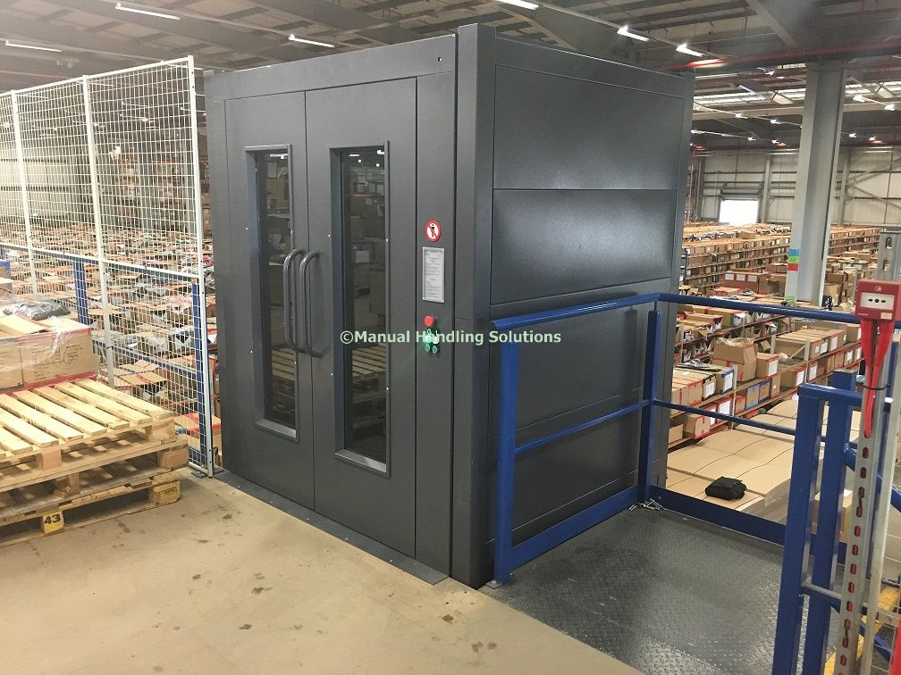 Cladded Mezzanine Goods Lifts