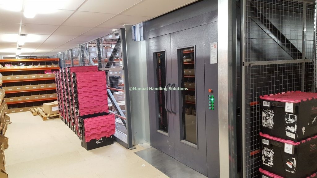 Goods Lift 1000kg 5 tier installed Crewe Cheshire