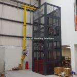 Mesh Enclosed Mezzanine Goods Lift London