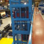 Mezzanine Goods Lift Mesh Construction